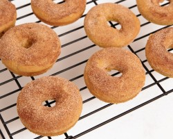 Baked Pumpkin Donut Recipe – Laura Vitale – Laura in the Kitchen Episode 826