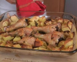 Roasted Chicken and Potato Bake – Recipe by Laura Vitale – Laura in the Kitchen Ep 199