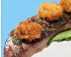 Surf and Turf Dinner – Steak and Fried Oysters with Love Butter
