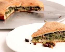 Escarole Stuffed Pizza Recipe – Laura Vitale – Laura in the Kitchen Episode 875