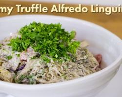 Creamy Truffle Alfredo Linguine