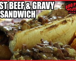 Roast Beef and Gravy Sub Sandwich