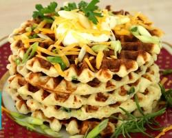 Mashed Potato Waffles |  Hilah Cooking