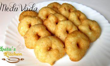 Medu Vada Recipe — South Indian Vegetarian Snack Recipe Video in Hindi – Lata's Kitchen