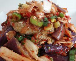 Eggplant side dish (Gajinamul:가지나물)