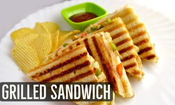 Grilled Sandwich Recipe – Veg Grilled Cheese Sandwich by Lata's Kitchen – Grilled Paneer Sandwich