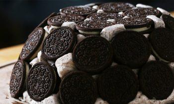 Cookies And Ice Cream Dome Cake