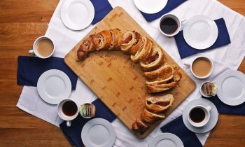 18-Inches Long Ham and Cheese Swirl Croissant