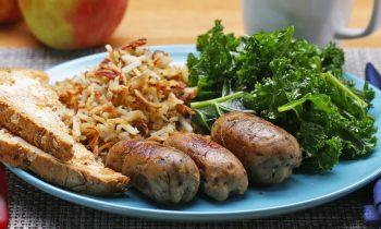 Vegetarian Breakfast Apple Sausages