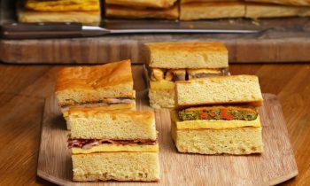 4-Flavor Giant Sheet Pan Breakfast Sandwich