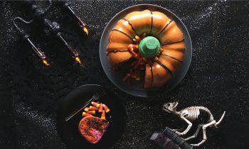 Halloween Marble Bundt Cake