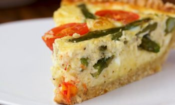 Cast-Iron Cheesy Asparagus Quiche • Tasty