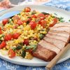 Smoky Pork Chops with Summer Succotash