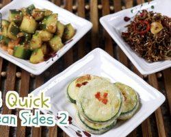 Another 3 Quick Korean Sides (오이 무침, 잔별치 볶음, 애호박 부침, BanChan) | Aeri's Kitchen