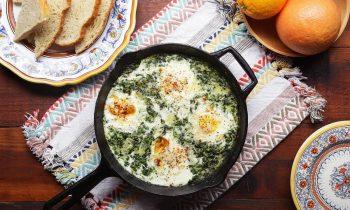 Creamy One-Pot Spinach Egg Breakfast • Tasty