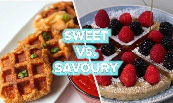 9 Sweet Vs. Savory Waffle Recipes • Tasty