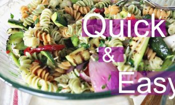quick & easy grilled vegetable Pasta salad | bbq side dishes | side dishes