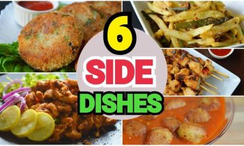 6 SIDE DISHES by (YES I CAN COOK) #SideDishes #Snacks #Simplefood #FriedChicken #TawaChicken #Kabab