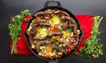 Steak and Eggs Hash •Tasty