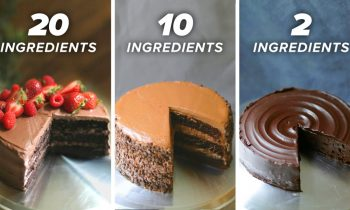 20-Ingredient vs. 10-Ingredient vs. 2-Ingredient Chocolate Cake • Tasty