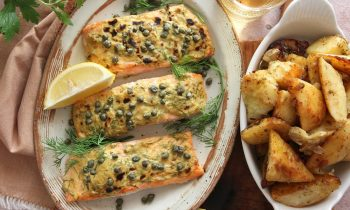 Dijon Roasted Salmon